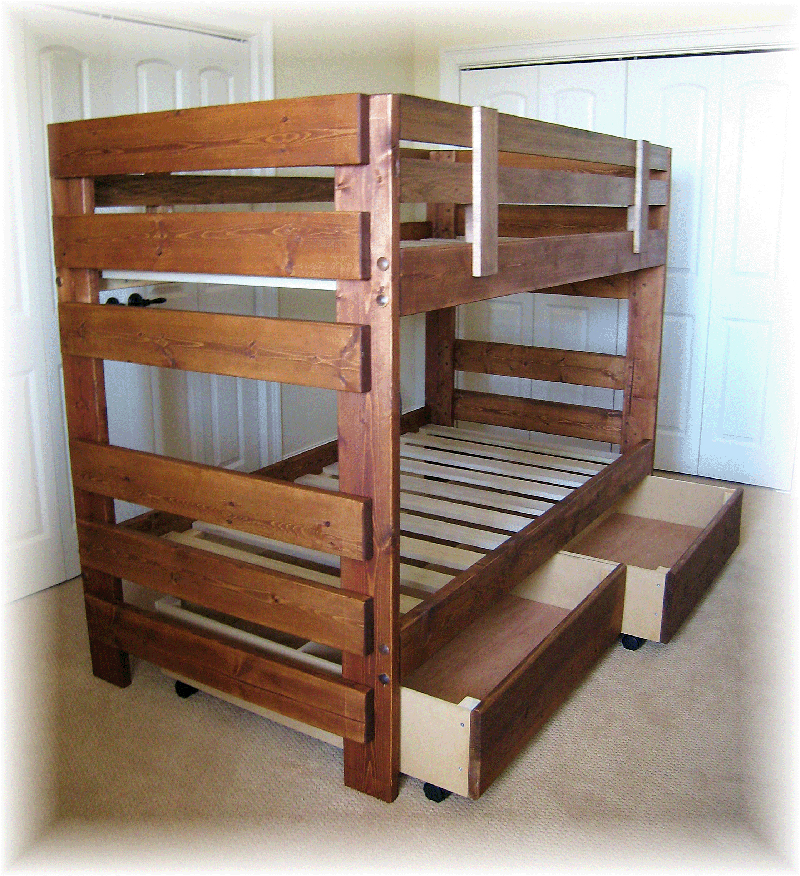 Twin loft bed plans bed plans diy blueprints for Loft drawings