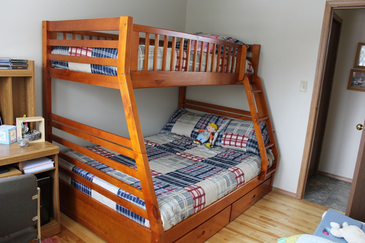 plans for twin over queen bunk bed | Quick Woodworking ...