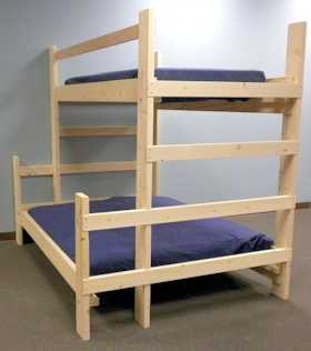 free bunk bed plans twin over queen | Quick Woodworking ...