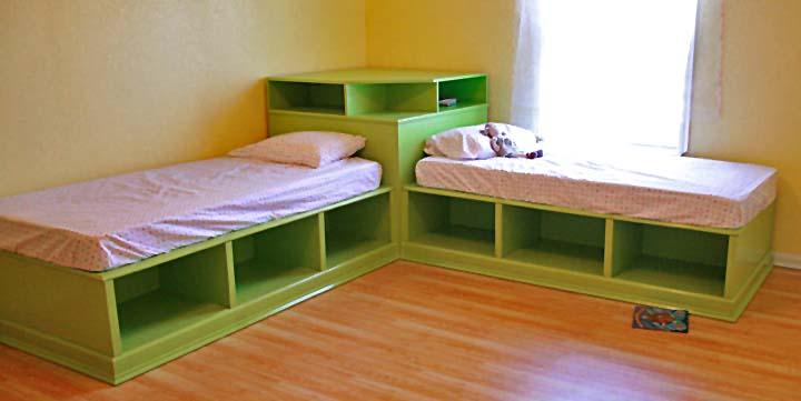 Twin Storage Bed Plans Bed Plans Diy Amp Blueprints