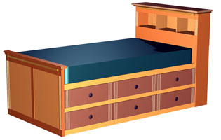 Twin Bed Frames With Storage twin storage bed plans | bed plans diy & blueprints