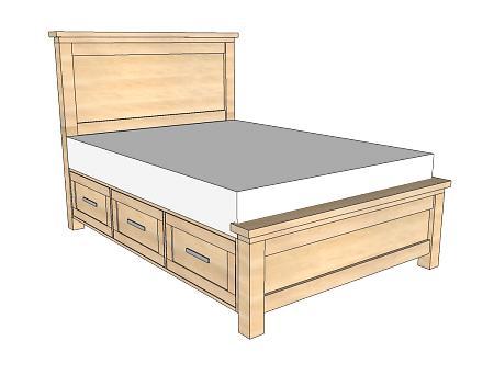 bed plans with storage