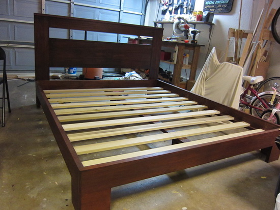 Wood bed frame plans diy blueprints