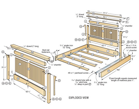 Wood bed plans bed plans diy blueprints for Free log bed plans