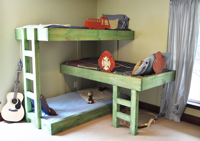 build in triple bunk bed plans