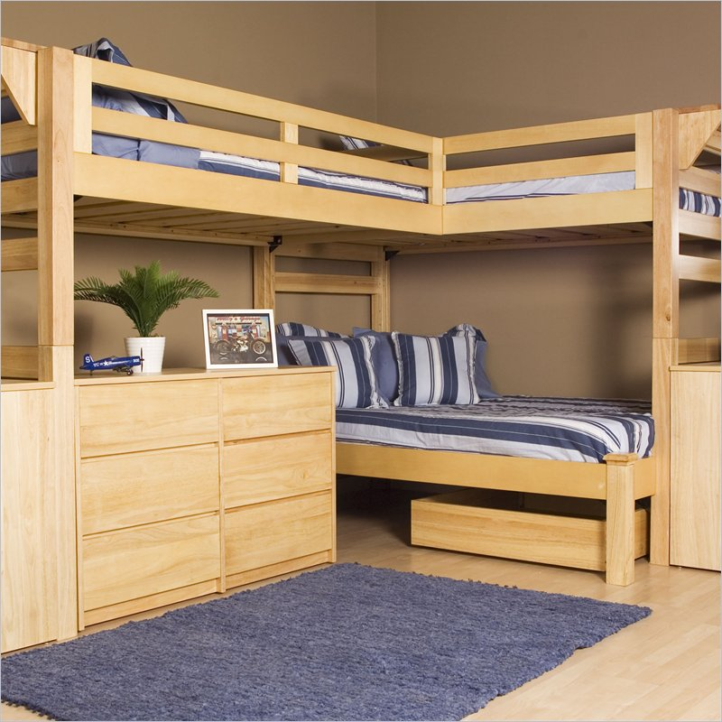 2 4 bunk bed plans bed plans diy blueprints for Three room set design