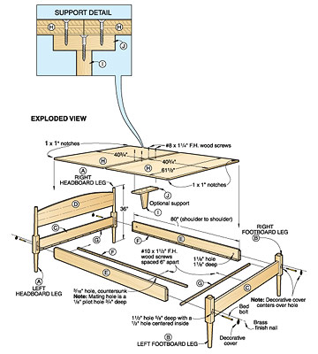 Bed Plans Woodworking Bed Plans Diy Amp Blueprints