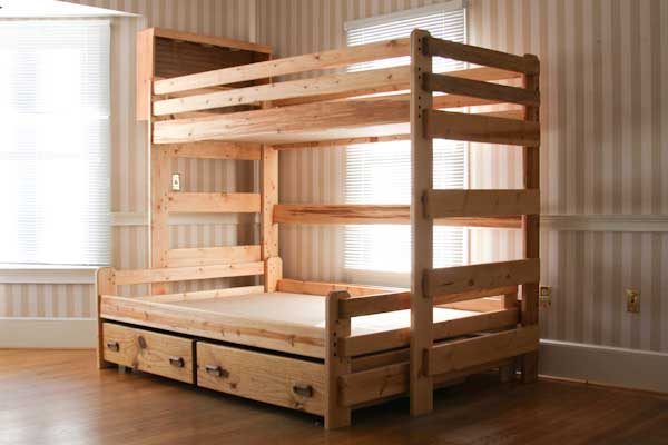Bunk Bed Plans Twin Over Full Bed Plans Diy Amp Blueprints