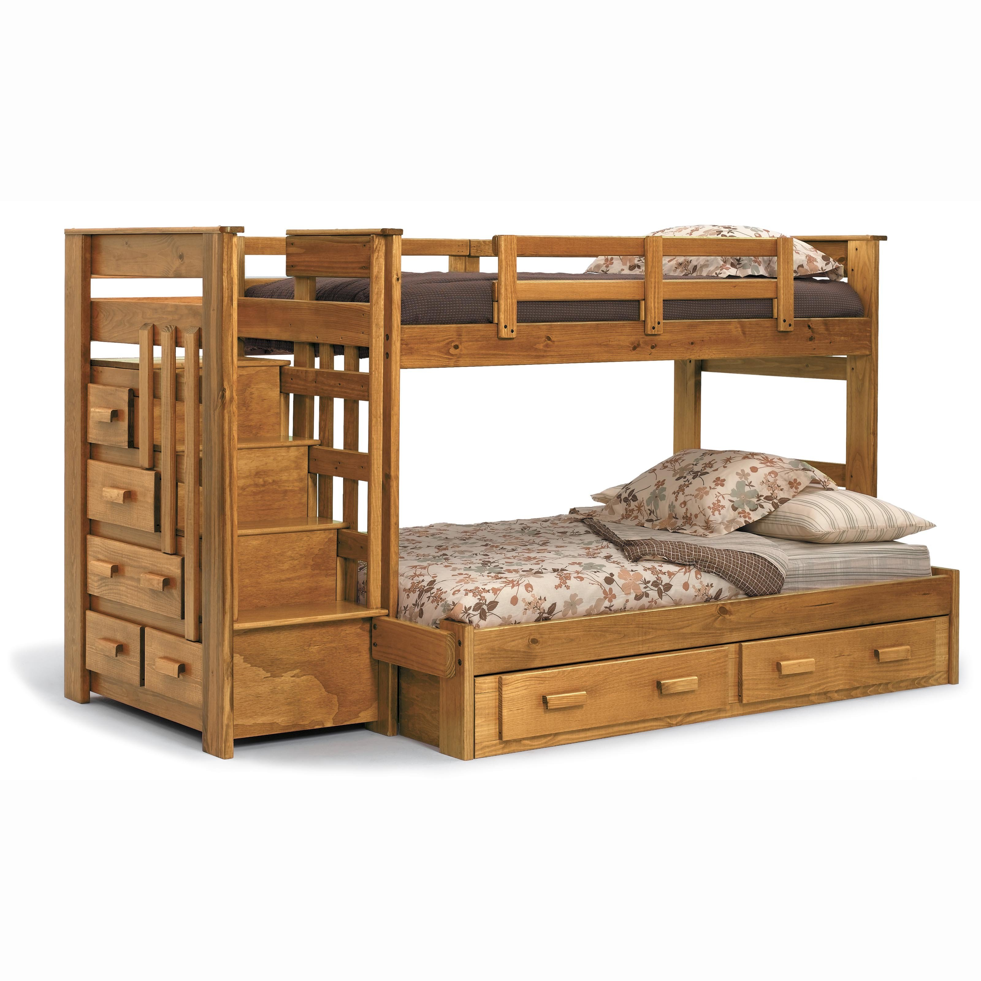 Plans for twin over queen bunk bed quick woodworking for Bunk bed woodworking plans