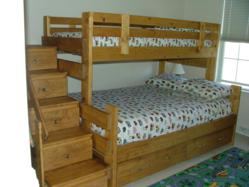 twin over full bunk bed plans with stairs