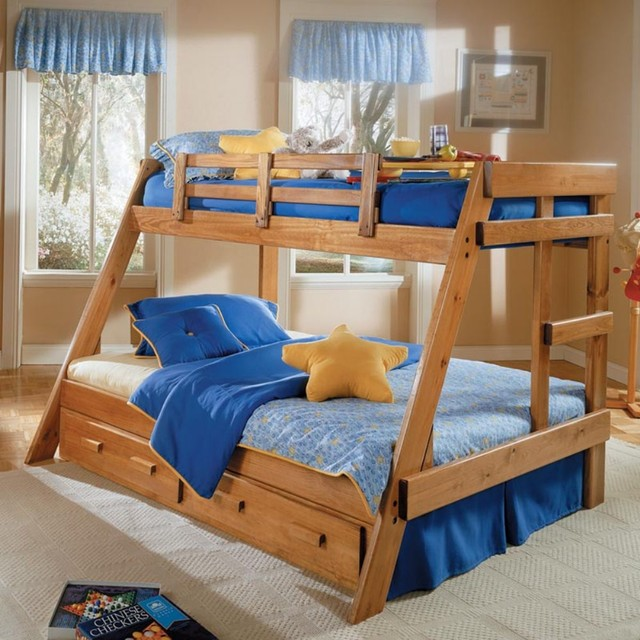 Bunk bed plans twin over full bed plans diy blueprints for Bunk bed woodworking plans