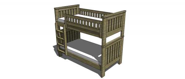Free Twin Over Queen Bunk Bed Plans, 10... - Amazing Wood Plans