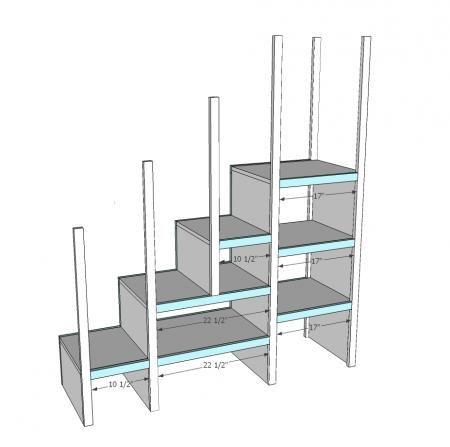 plans loft bed with stairs