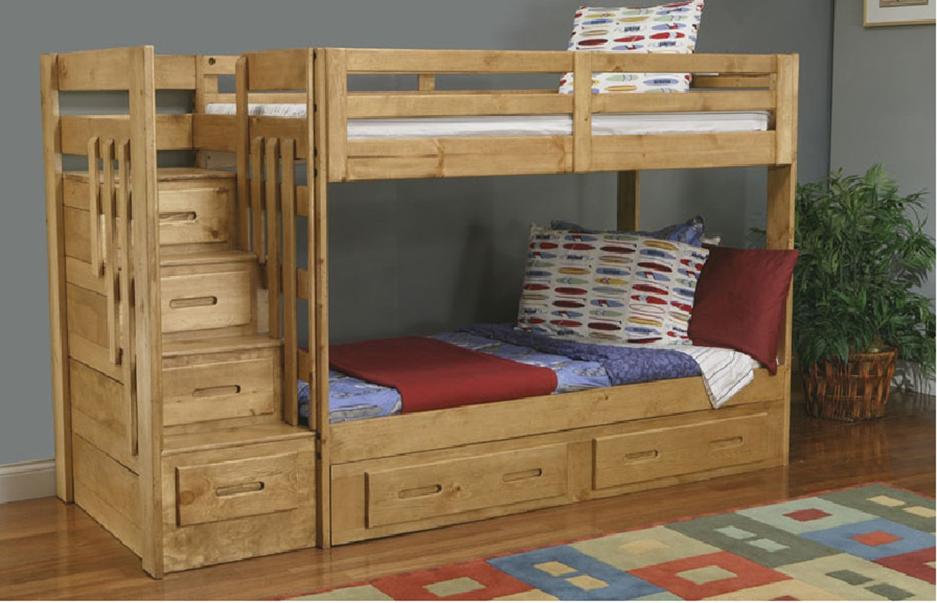 plans for bunk beds with storage stairs | Quick Woodworking Projects