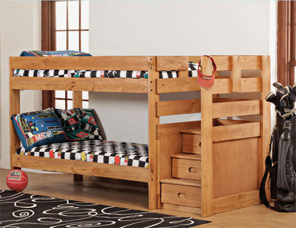 Bunk Bed with Stairs Plans 588 x 454