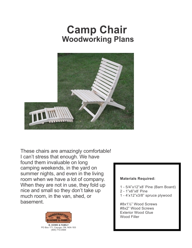 Wood Camp Chair Plans ~ Bird house plans titmouse scout camp chair white