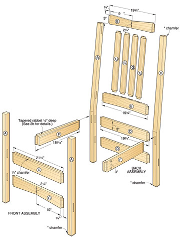 Plans for wood rocking chairs furnitureplans for Rocking chair design plans