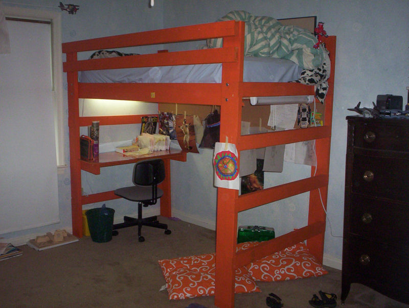 Permalink to free plans for dorm loft bed