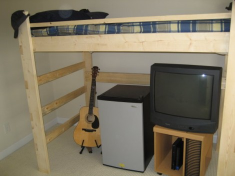 how to make a loft bed for college 2