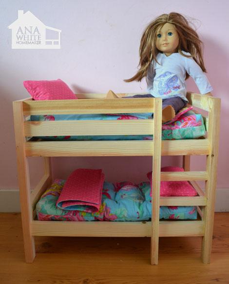 Doll Bunk Bed Plans Bed Plans Diy Amp Blueprints