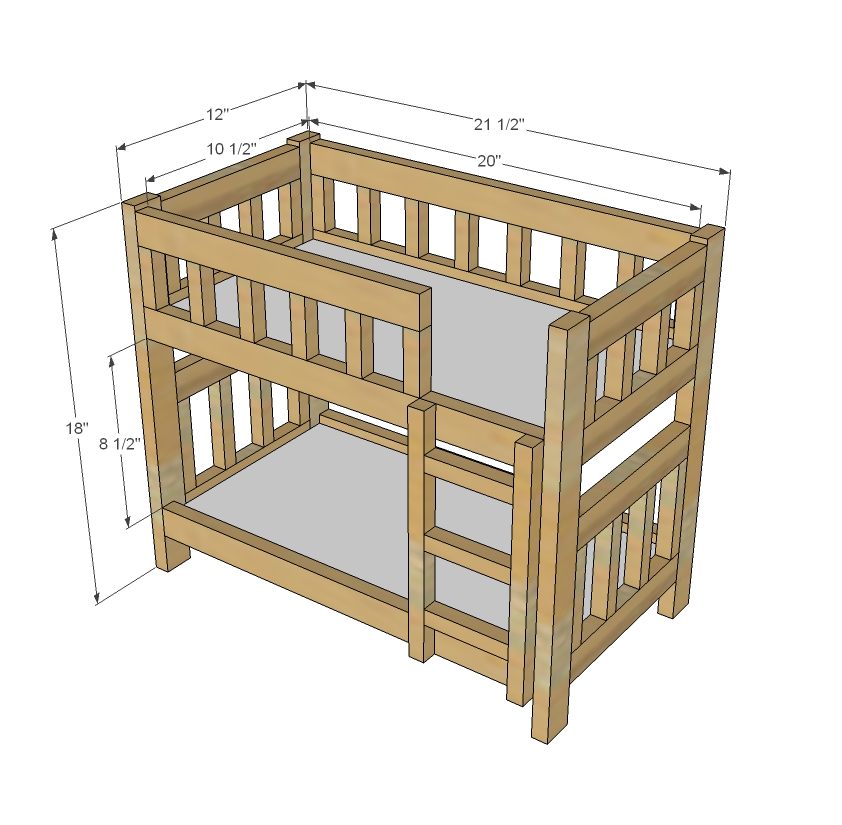 Woodwork Baby Doll Bunk Bed Plans PDF Plans