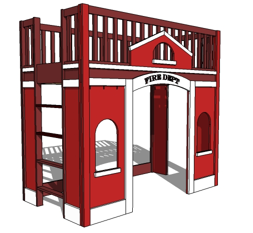 Pdf diy fire engine bunk bed plans download farmhouse for Fine woodworking magazine discount