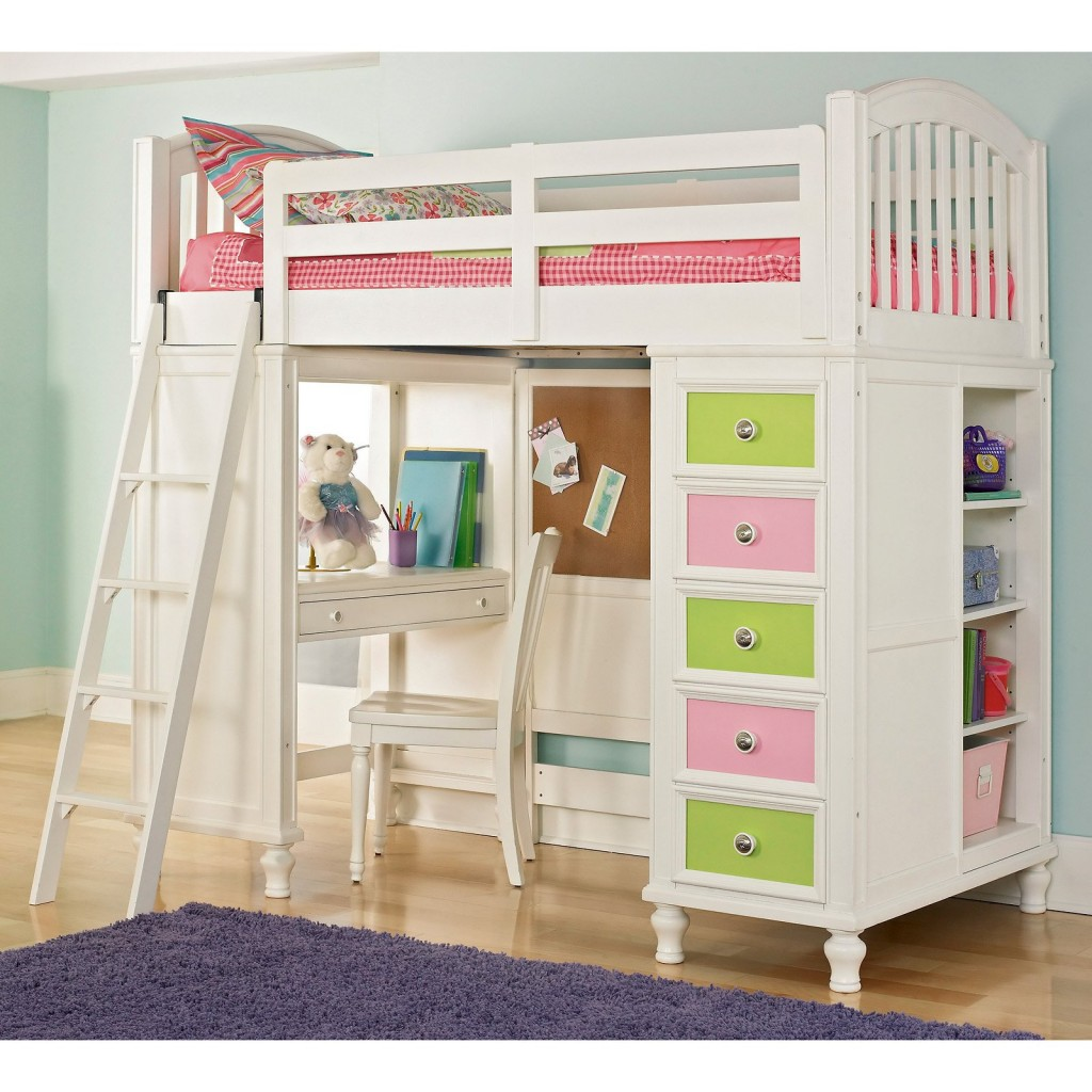 Loft bed plans for kids bed plans diy blueprints for Bunk bed ideas