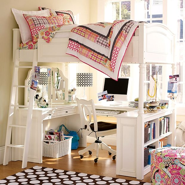 Loft Bed Plans With Desk Bed Plans Diy Amp Blueprints