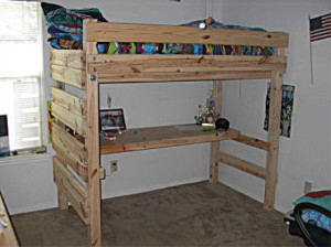 Loft Bed Plans With Desk