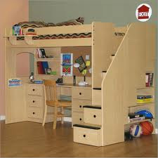 plans bunk bed with desk underneath