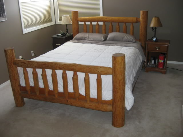 Log Bed Plans Bed Plans Diy Amp Blueprints