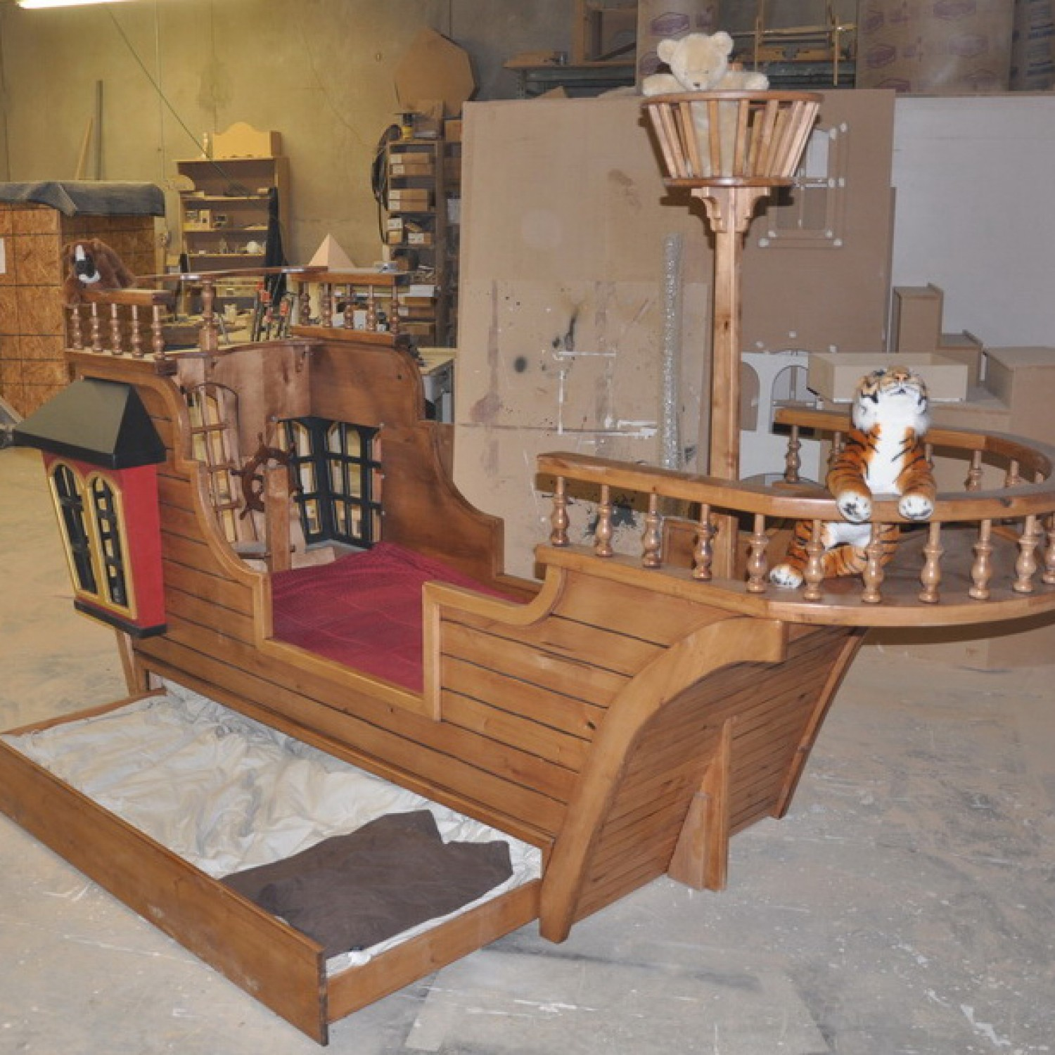Pirate Ship Twin Bed