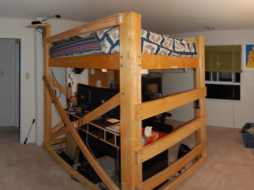 Queen Size Loft Bed Plans | BED PLANS DIY & BLUEPRINTS