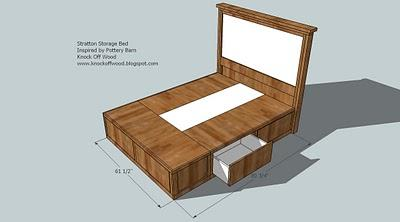 How to build a queen platform bed with storage quick woodworking projects - How to build a queen size bed frame with drawers ...