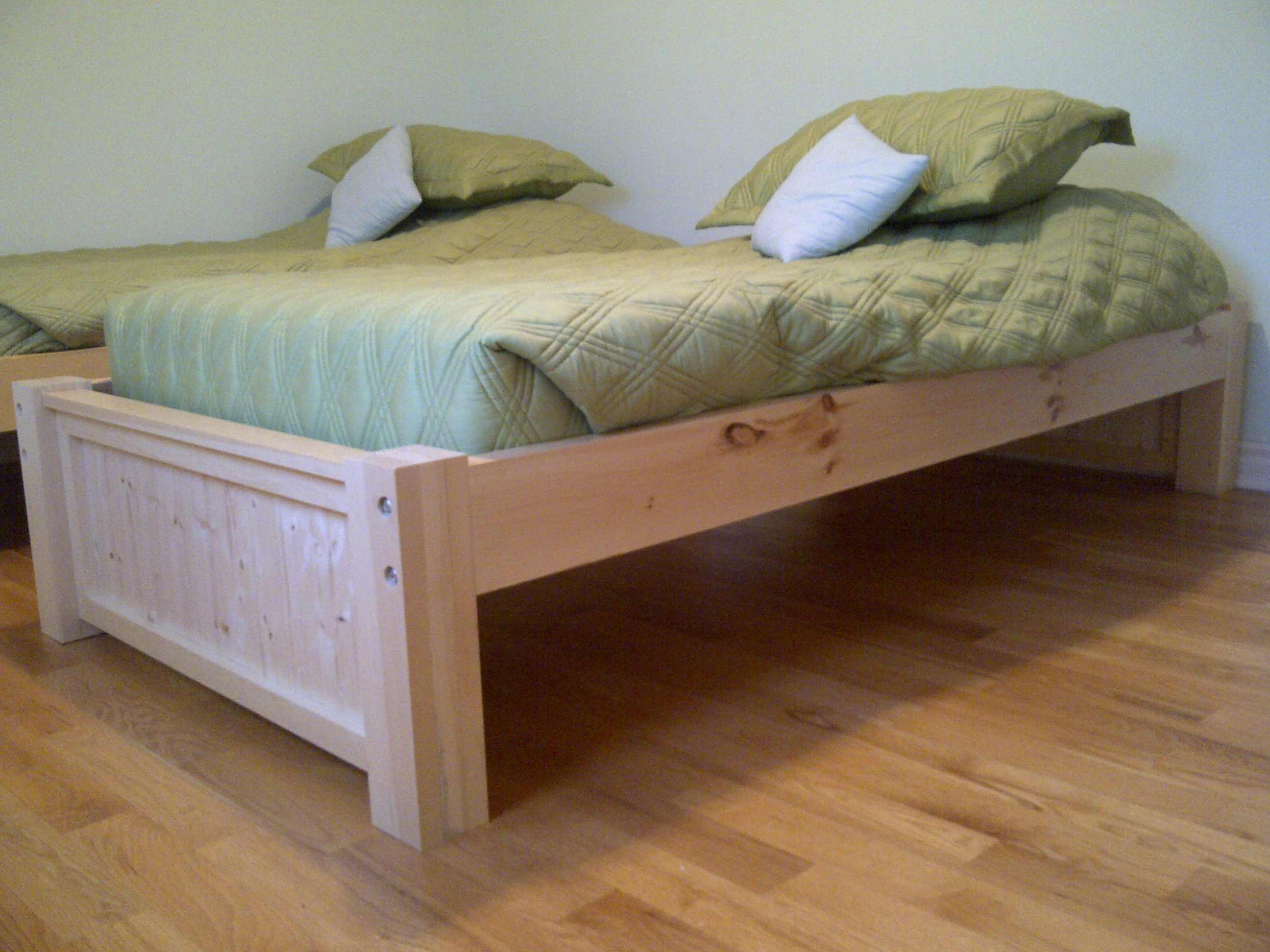 twin platform bed plans storage