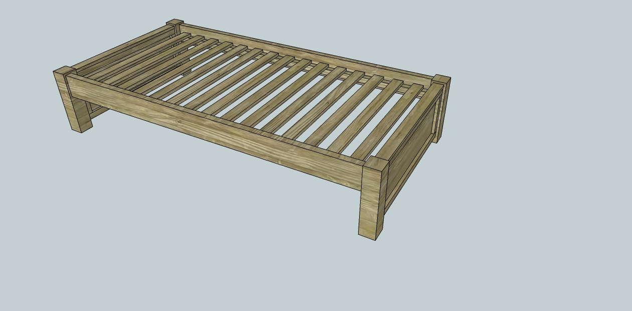 Easy Build Platform Bed Frame | Male Models Picture