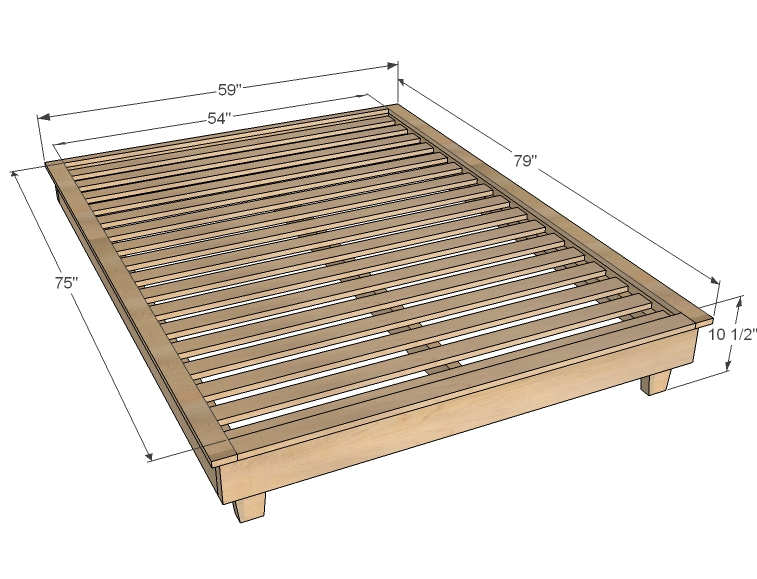 Twin Platform Bed Plans | BED PLANS DIY & BLUEPRINTS