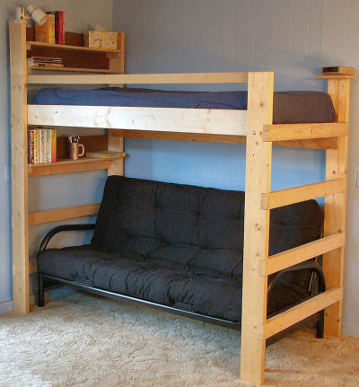 Full Size Loft Bed Plans : Bunk Beds – Advantage And ...