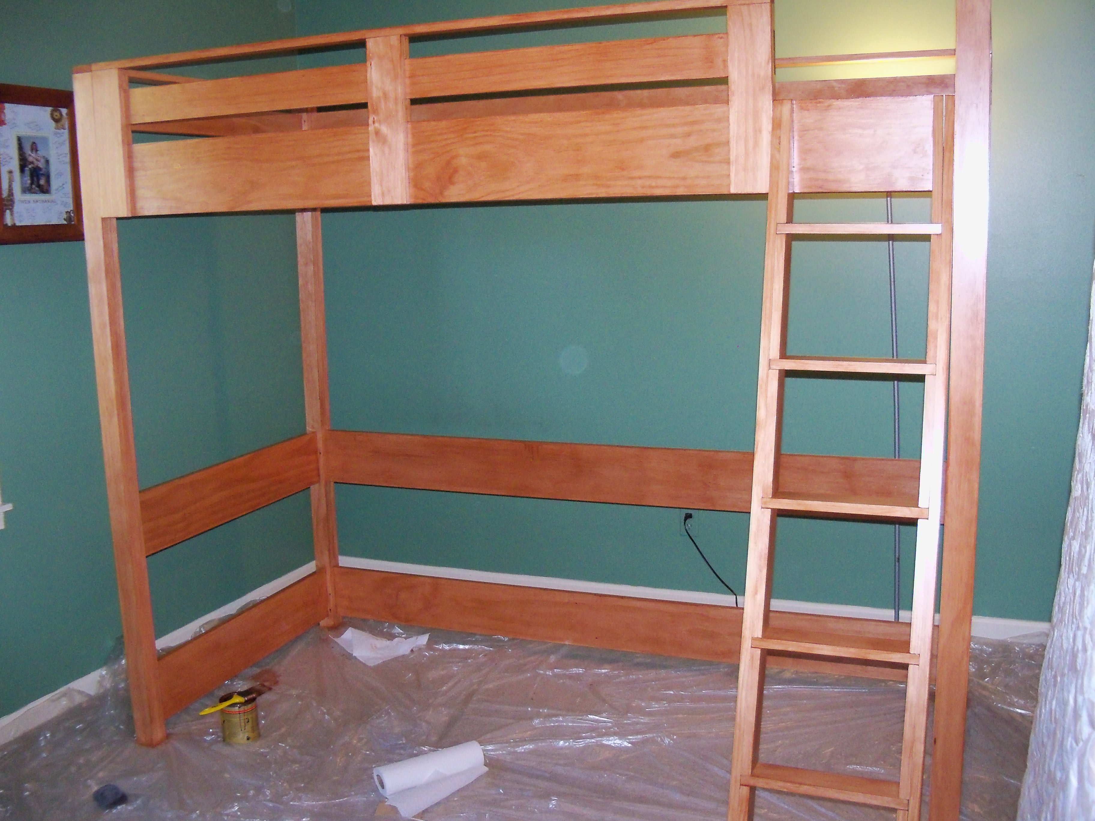 building plans for loft bed with desk | Quick Woodworking ...