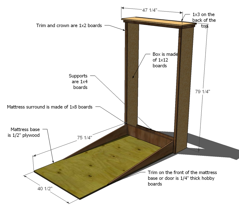 Wall bed plans blueprints