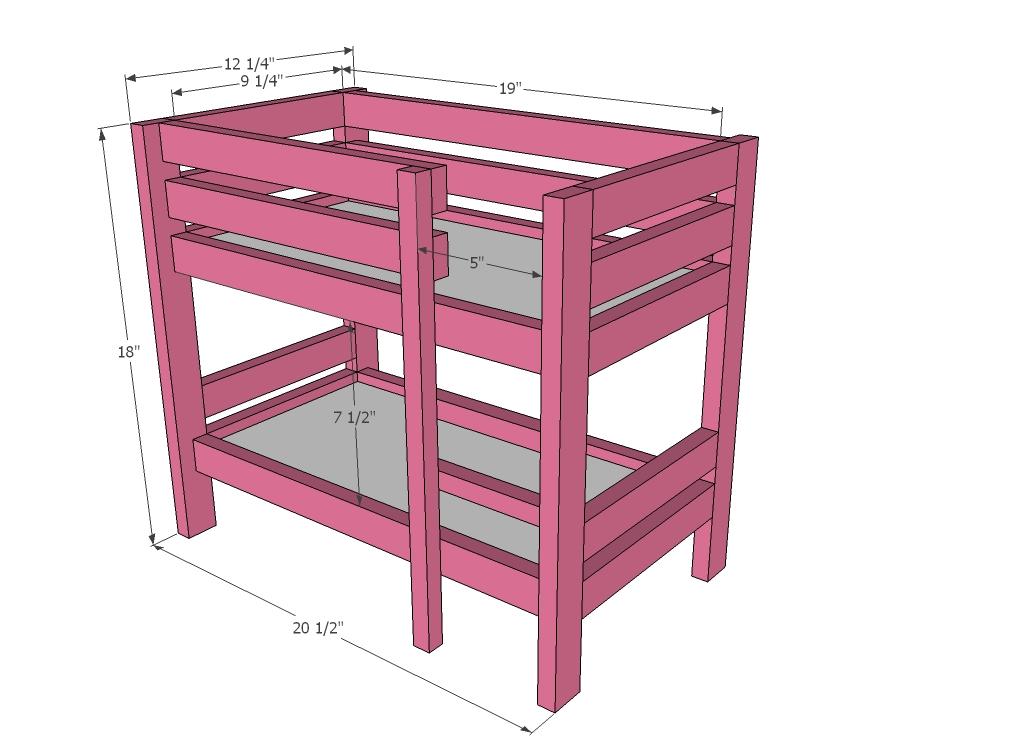 American Girl Bunk Bed Plans | BED PLANS DIY & BLUEPRINTS