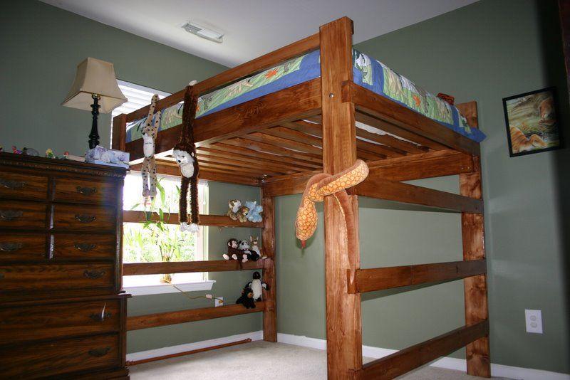 Queen Size Loft Bed Plans | BED PLANS DIY & BLUEPRINTS