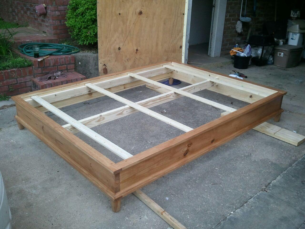 queen size platform bed plans 6