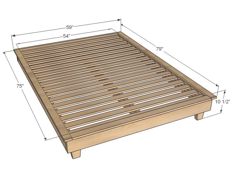Twin Platform Bed Plans | BED PLANS DIY & BLUEPRINTS